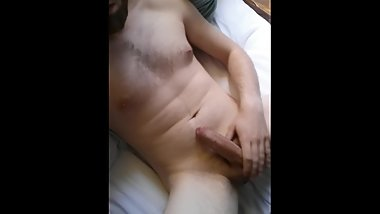 Bearded Teen Boy Cums All Over Himself - MattThom98