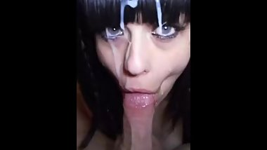 Massive facial for sexy babe - YOU GOTTA SEE THIS  )