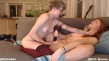 LESBIAN PUSSY EATING, CHOKING, AND FINGERING