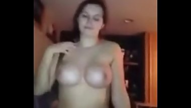 Hot Brunette Babe Sucks Thick Cock