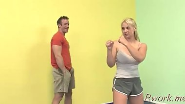 Startling Sarah Vandella gapes all the way