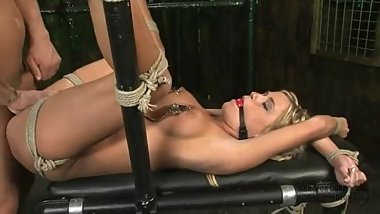 Tied Spread Blonde used by Master