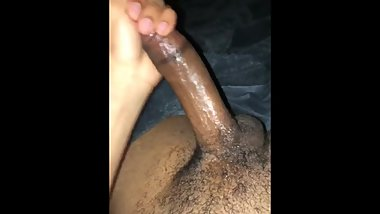 Young light skin bbc jerking