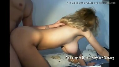 Innocent Amateur Teen with Hanging Tits with New Roommate