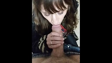 Horny Amateur Slut Sucks Big Dick And Gets Fucked In Bathroom Stall