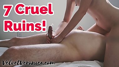 Cock Teasing & Ruining His Orgasm Repeatedly Femdom Compilation  Veronica
