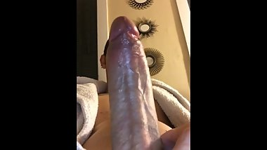 Teen jerking off his big 8inch cock. Dick play