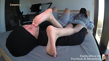 College Girl Naughty Toes Gagging And Sucking