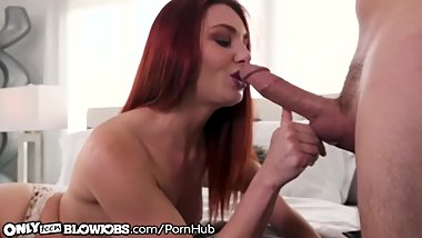 OnlyTeenBlowjobs Redhead Cam Slut Lacy Lennon Throats for Audience