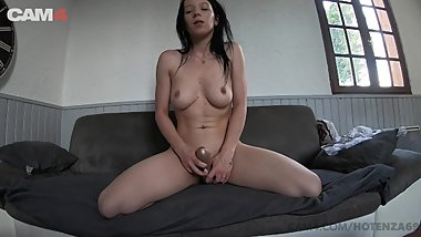 CAM4 Hot Teen Hotenza69 Plays with a Toy in Her Ass