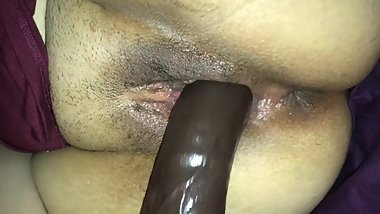 Hot Latina Wife Loves Big Dildos in her