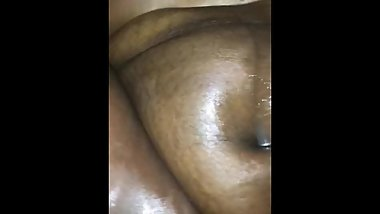 Fat Ebony Pussy Squirts On White Cock