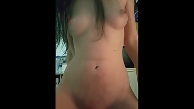 POV slut gf moaning riding cock with bouncing perky tits