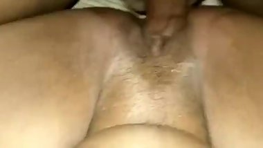 Fucking my bitch sweet and creamy pussy raw