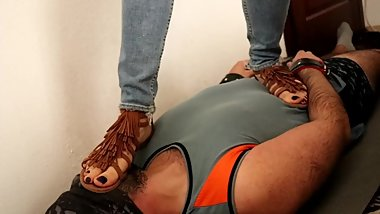 Hard Trample Brown Sexy Gladiator Sandals (For Full Clip Visit My Store)