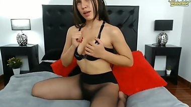 Black Pantyhose masturbation
