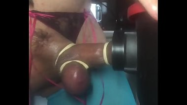 HIGH ON SPEED PUMPED PENIS SEARCHING FOR NEW SENSATIONS FUCKING THE VACUUM