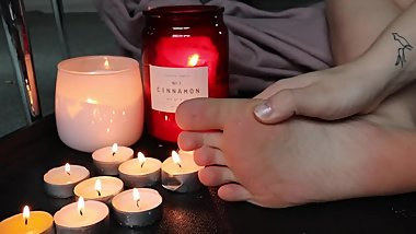 Candle Wax  HQ  Feet Fetish  Soles  Wrinkles  Cozy  ASMRVenus