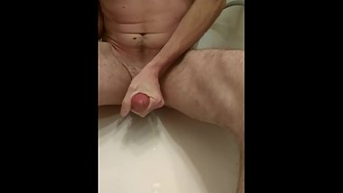 masturbation in bathroom