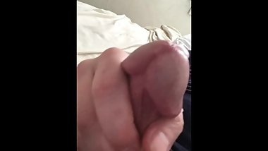 Spraying cum out of my cock