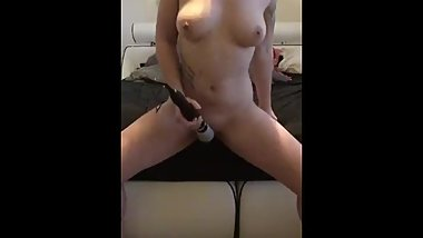 Homemade masturbating with toy and orgasm