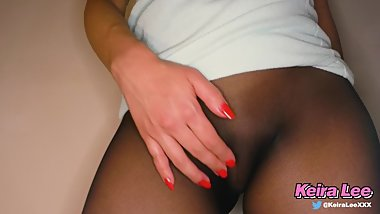 Pantyhose Butt Plug Squirting Pussy pt. 1