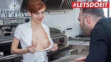 LETSDOEIT - Steak and Blowjob Day Specials In a Public Spanish Restaurant