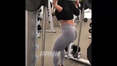 Sexy thick Latina with Big ASS goes Ape in the gym!!