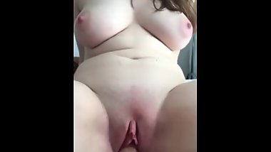 Big boobs white girl riding dick pov