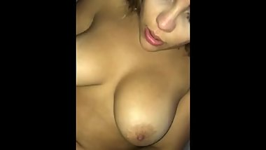 Beautiful big boobs latina wife riding dick amateur