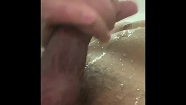 Jerking my dick in the shower