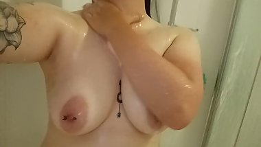 Cute girlfriend in the shower